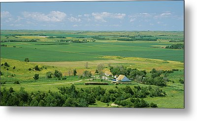 High Angle View Of A Landscape, Arnold Metal Print by Panoramic Images