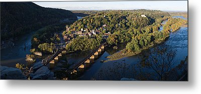 High Angle View Of A Town, Harpers Metal Print