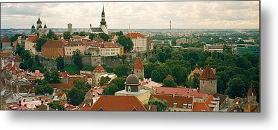 High Angle View Of A Townscape, Old Metal Print by Panoramic Images