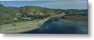 High Angle View Of Columbia River Metal Print by Panoramic Images