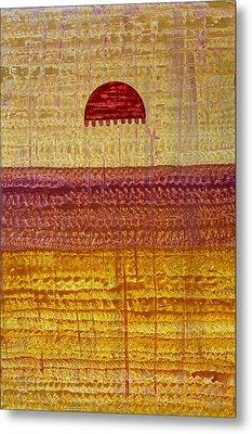 High Desert Horizon Original Painting Metal Print by Sol Luckman