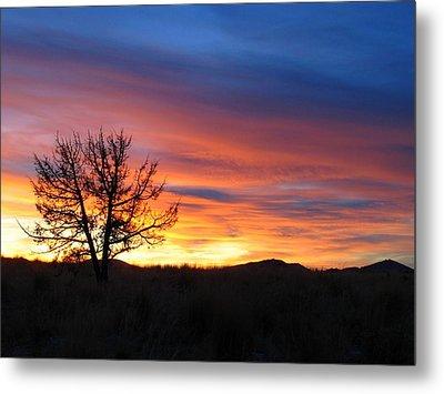 High Desert Sunset Metal Print