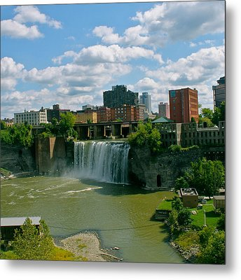High Falls Rochester  Metal Print by Justin Connor