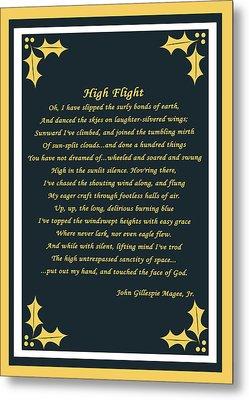 High Flight Metal Print