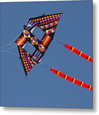 High Flying Kite Metal Print by Art Block Collections