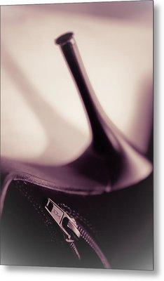 High Heel Of A Brown Shoe Metal Print
