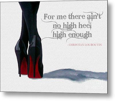 High Heels Metal Print by Rebecca Jenkins
