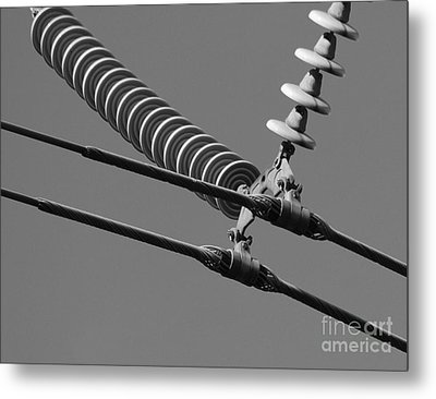 Metal Print featuring the photograph High Power Line - 4 by Kenny Glotfelty