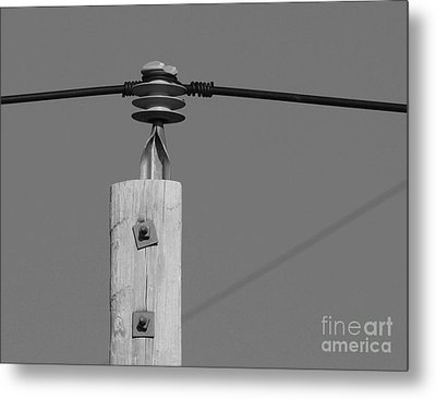 Metal Print featuring the photograph High Power Line - 6 by Kenny Glotfelty