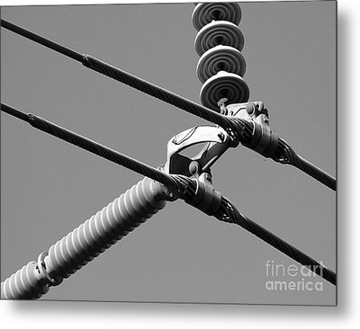 Metal Print featuring the photograph High Power Lines - 1 by Kenny Glotfelty