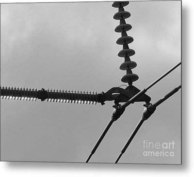Metal Print featuring the photograph High Power Lines - 2 by Kenny Glotfelty