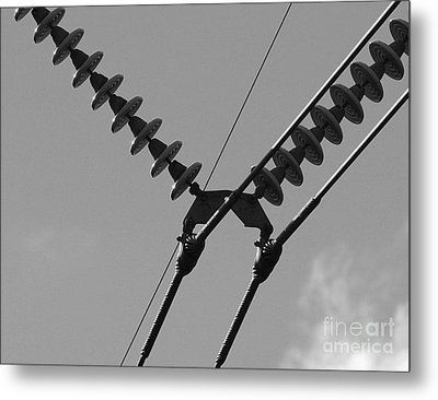 Metal Print featuring the photograph High Power Lines - 3 by Kenny Glotfelty