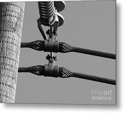 Metal Print featuring the photograph High Power Lines - 5 by Kenny Glotfelty