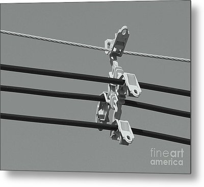 Metal Print featuring the photograph High Power Lines - 9 by Kenny Glotfelty