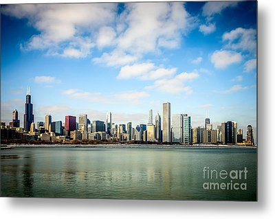 High Resolution Large Photo Of Chicago Skyline Metal Print