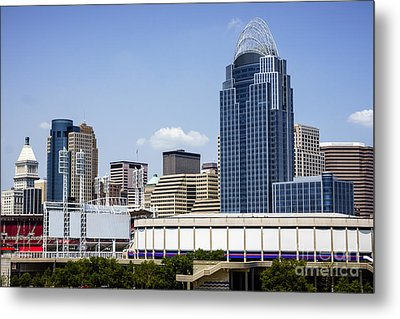 High Resolution Photo Of Cincinnati Skyline Metal Print by Paul Velgos