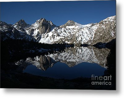 High Sierra Mountain Reflections 1 Metal Print by Jane Axman