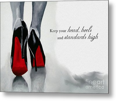 High Standards Metal Print by Rebecca Jenkins