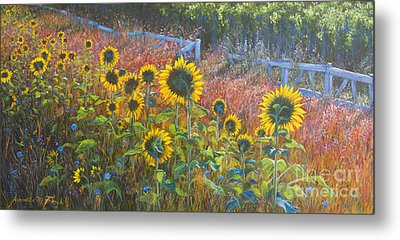 Metal Print featuring the painting High Summer by Jeanette French