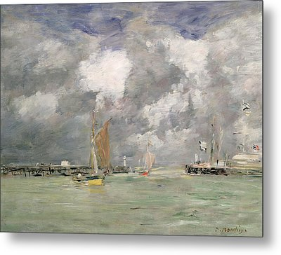 High Tide At Trouville Metal Print by Eugene Louis Boudin