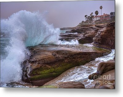 High Tide At Windansea Beach Metal Print by Eddie Yerkish