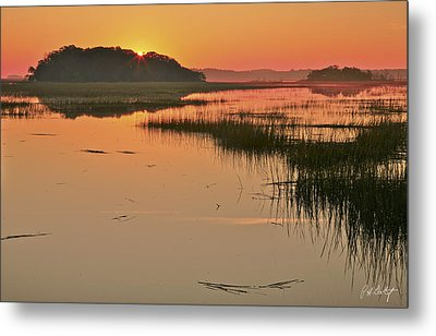 High Tide Sunrise Metal Print by Phill Doherty