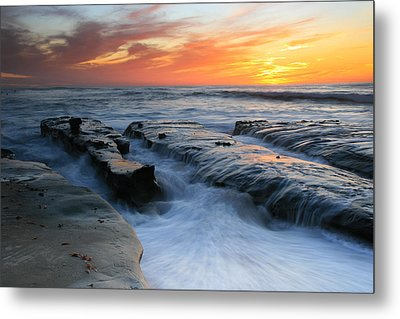High Tide Sunset 2 Metal Print