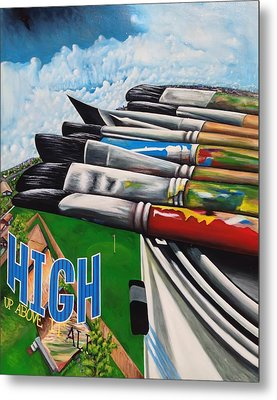 High Up Above It All Metal Print by Randy Segura