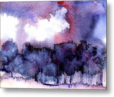Metal Print featuring the painting High Valley Weather by Anne Duke