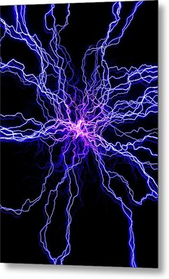High Voltage Discharge Metal Print by David Parker
