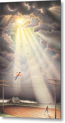 High Wire - Dream Series No. 4 Metal Print by Amy S Turner
