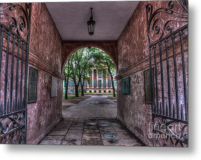 Higher Education Tunnel Metal Print by Dale Powell
