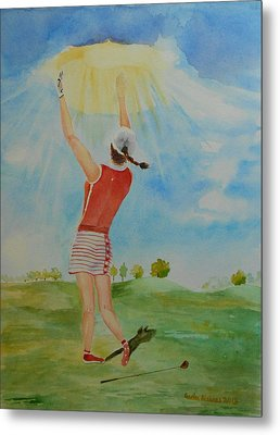 Highest Calling Is God Next Golf Metal Print