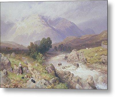 Highland Scene Near Dalmally Argyll Metal Print by Myles Birket Foster