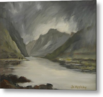 Highland Storm Metal Print by Jo Appleby