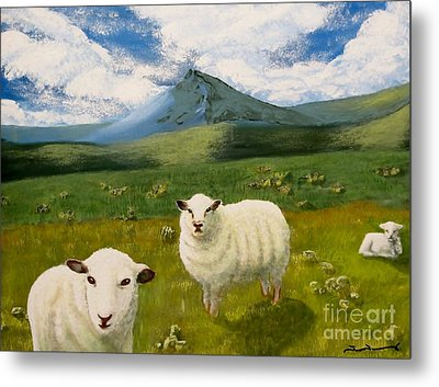 Highlands Sheep Metal Print
