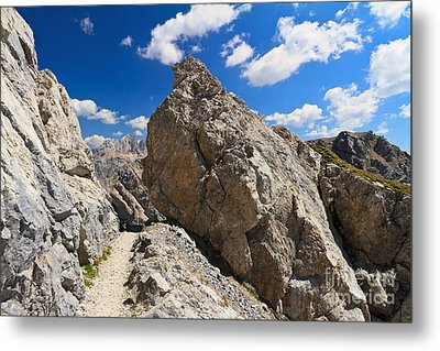 hike in Dolomites Metal Print by Antonio Scarpi