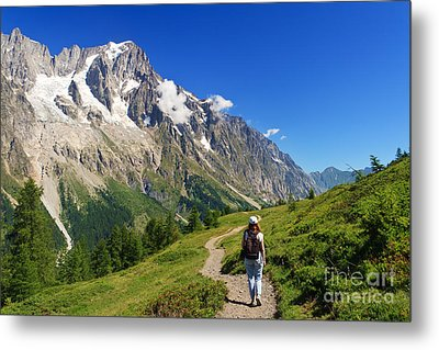 hiking in Ferret Valley Metal Print by Antonio Scarpi