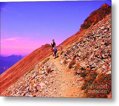 Hiking To Paradise Metal Print by Ann Johndro-Collins