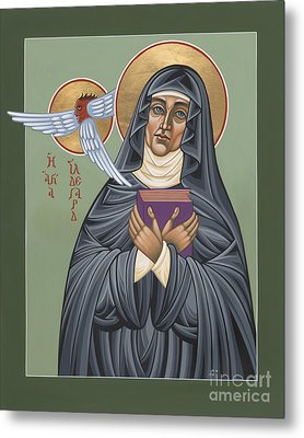 Metal Print featuring the painting St. Hildegard Of Bingen 171 by William Hart McNichols