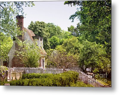 Hill Cottage Metal Print
