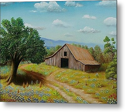Hill Country Barn   Metal Print