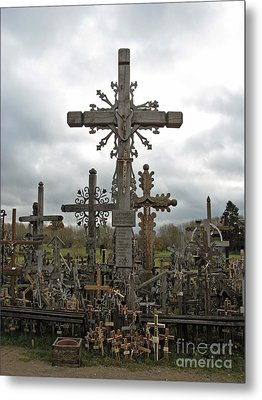 Hill Of Crosses 06. Lithuania.  Metal Print by Ausra Huntington nee Paulauskaite
