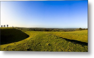 Hill Of Tara - Landscape Panorama Metal Print by Mark E Tisdale