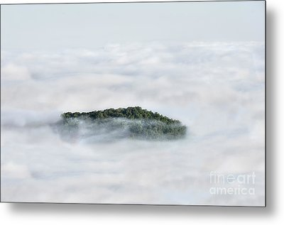 Hill Top Island In The Clouds Metal Print by Dan Friend
