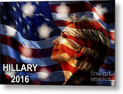Hillary 2016 Metal Print by Marvin Blaine