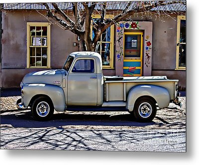 Metal Print featuring the painting Hillsboro New Mexico 1949 Gmc 100 by Barbara Chichester