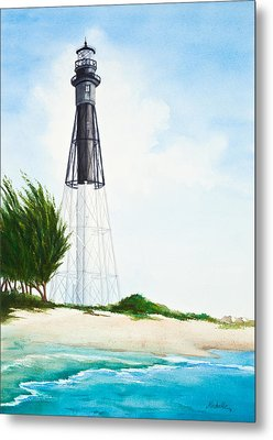Hillsboro Point Inlet Florida Lighthouse Metal Print by Michelle Wiarda