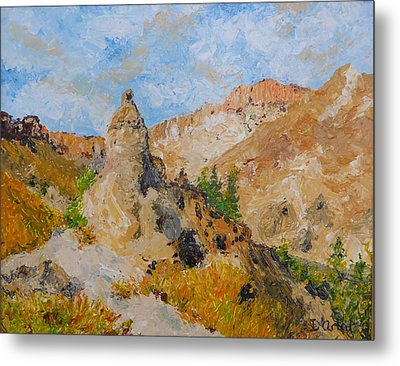 Hillside Church In Cappadocia Metal Print