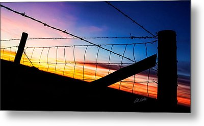 Hilltop Sunset Metal Print